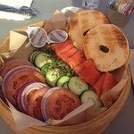 bagels and lox at the Spa Bistro