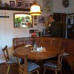Typical Stammtisch in the Restaurant.