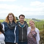Photo at Hobbiton. Sharon and team take photos of the group for you!