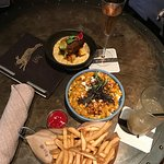 Hog N' Hominy, Shrimp and Grits, & Parmesan Fries!