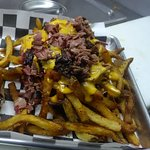 Cheesey fries with brisket....awesome!