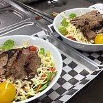 Salads.....add brisket, pork or turkey if you like!