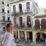 """View from the balcony - great to watch """"real"""" Cuba pass below"""