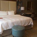 King size bedroom in jacuzzi suite room.