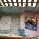 Beautiful bedding and child's Toiletry bag