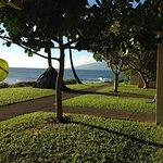 View from A-18 lanai--Molokai is peeking right