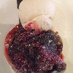 chocolate fondant with hazelnut icecream