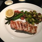 Wahoo (Ono) Fish with Brussels and Asparagus