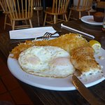 Halibut eggs and hash browns