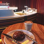 salted caramel sweet roll, cortado deliciousness