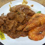 Mutton Curry and Prawns