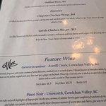 Menu options, Jake's At The Lake 109 South Shore Road, Lake Cowichan, British Columbia