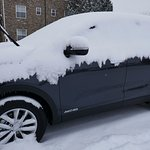 Learnt why you put your wipers up in the snow!