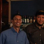 Bartender Delo and Waiter Gustavor