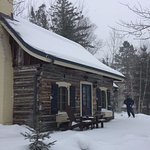 Clagett's Cabin on a perfect snowy day