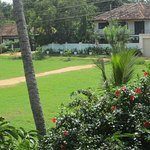 Small park with cricket pitch, next to the guest house