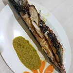 grilled saba fish with Acia's secret ginger sauce