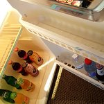 Mini bar and large fridge
