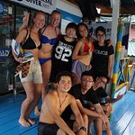 photos with our dive masters & 2 other divers
