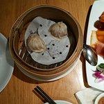 Sweet & sour pork, chive dumplings, pork dumpings