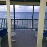 Spacious balcony just above the waves