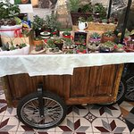 Plants for sale in restaurant