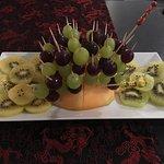 plateau de fruits du nouvel an