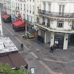 The view from our room on Rue Saint-Denis