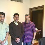 With Pankaj Pawar & Ketan (both from HK)