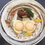 Dark Chocolate mousse and orange cake