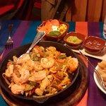 Fajitas Mixte met scampi's en kip (voor 2 personen)