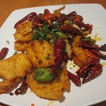 Dry Pepper Fish Fillet (Heat level -- Very Spicy!)