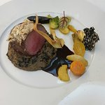 Wonderful venison main course at La Cote des Monts Damnes