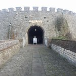 Access to the main gate.