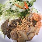 BBQ Pork, Shrimp, Spring Roll with Vermicelli