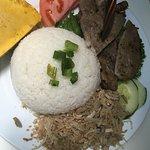 BBQ Pork Chop, Special Steamed Egg Cake, Shredded Pork and Broken Rice