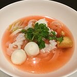 Seafood Noodles Soup (pinky Soup)