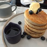 stack of blueberry pancakes!
