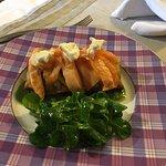 Blanquette aux cèpes - rumsteck - quenelle soufflée - tarte fine aux deux saumons