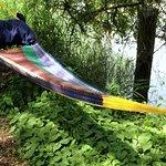 Relax in a riverside hammock