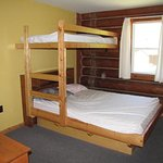 Paradise Cabin, one of two bedrooms with full and twin beds