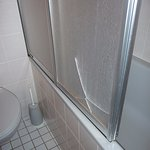 smashed shower screen