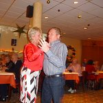 The Landlord and land lady enjoying a Christmas dance