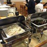 viking: potato salad, seaweed mixture
