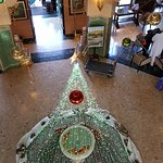 The main lobby decked out for Christmas