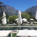 Spacious pool area overlooking Table Mountain