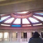 Lobby glass dome from promenade level