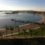 San Diego Bay left, Pacific right side