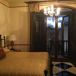 King Sized bed and juliet balcony in Pablo Casal Suite