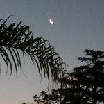 Miren esa luna, en ese cielo semi-oscuro, que se vé desde una punta de la terraza